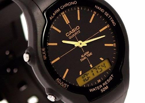 reloj casio aw 90h sumergible cronometro alarma hora dual
