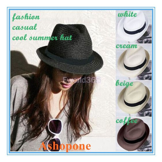 Senhoras Mens Sun Straw Fedora Panamá Tribly Estilo Crushable Verão Sun Beach Hat 3.78- Aliexpress
