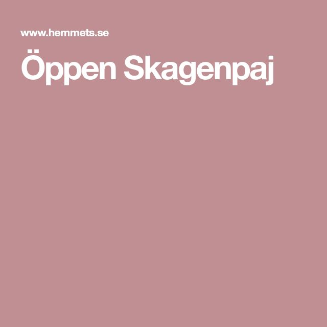 Öppen Skagenpaj