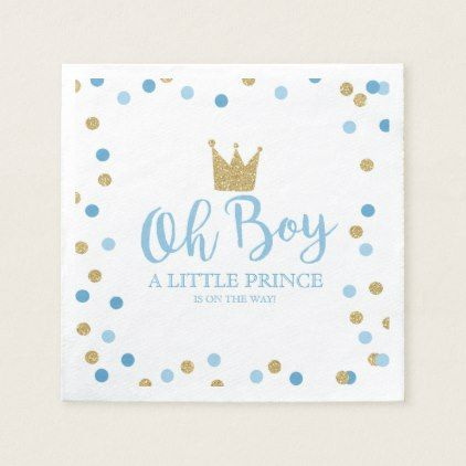 Little Prince Baby Shower Baby Shower Party Napkin - home gifts ideas decor special unique custom individual customized individualized