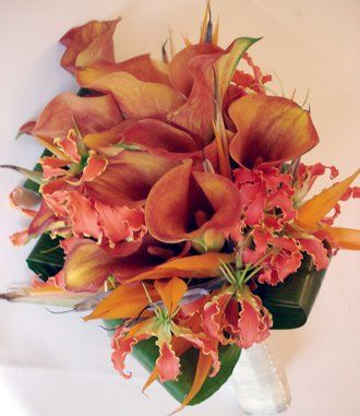 gloriosa lily Wedding Reception Centerpieces   ... orange calla lily and gloriosa lily are a wonderful combination in