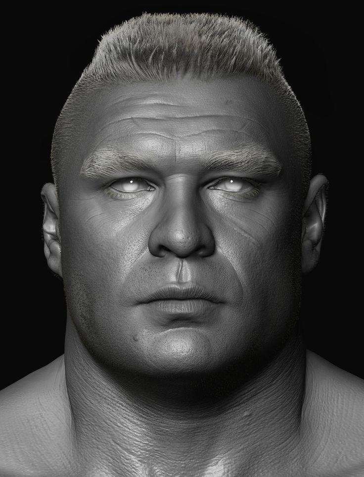 ArtStation - Brock Lesnar done for WWE, Hossein Diba