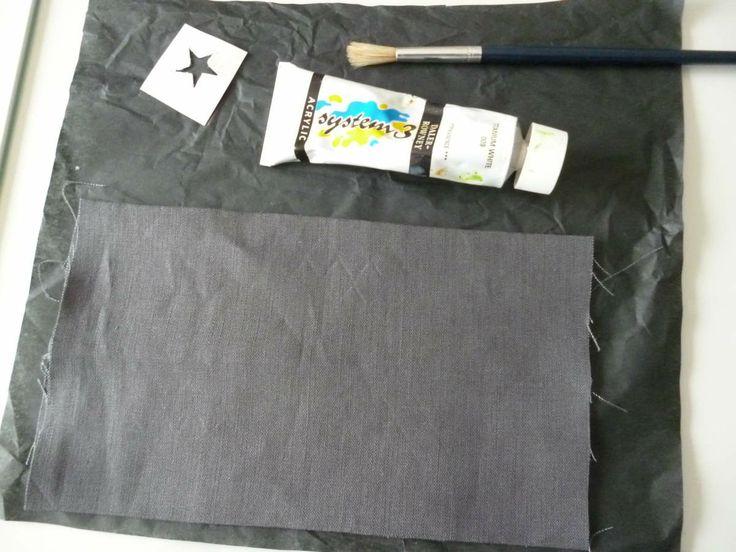 peinture sur tissu le tuto                                                                                                                                                                                 Plus