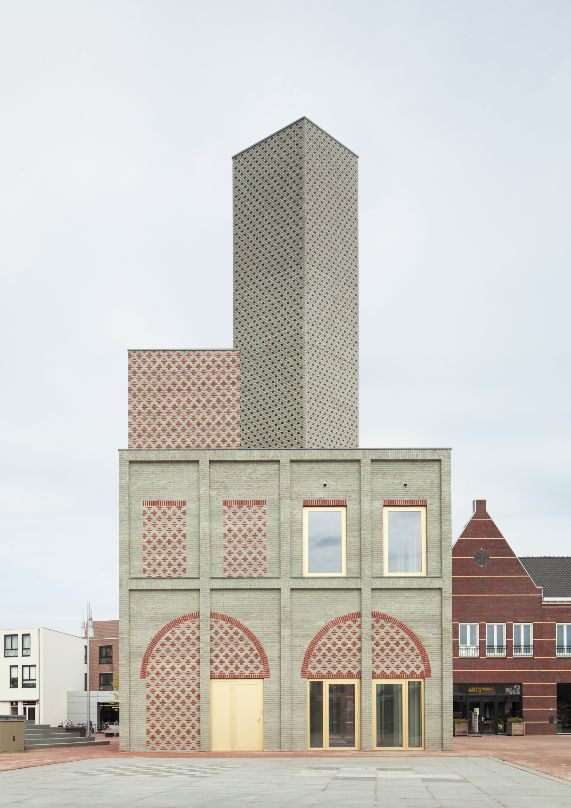 Brilliant contemporary hats off to another time in Monadnock's tower design in an unnamed Dutch village.