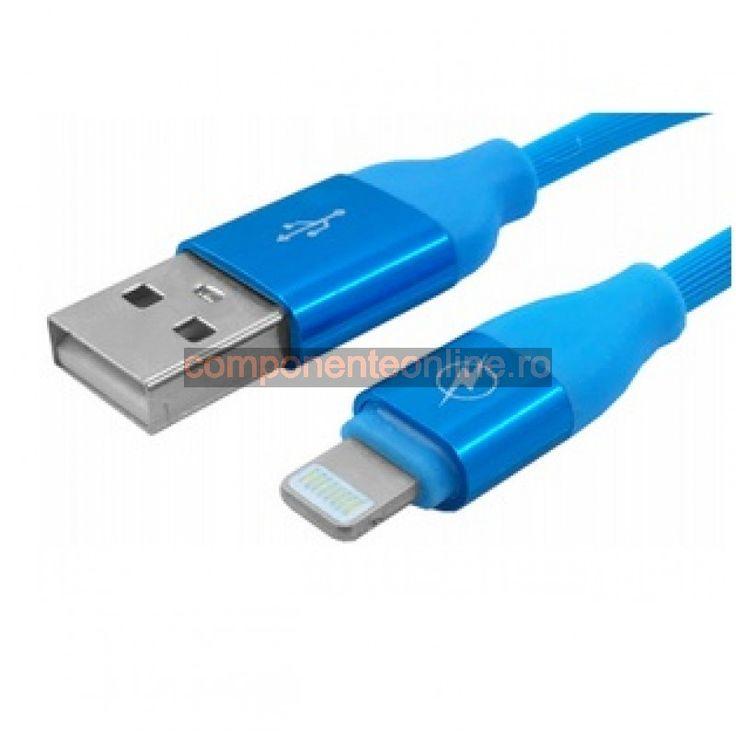 Cablu compatibil cu iPhone5, 6, 1m - 173911