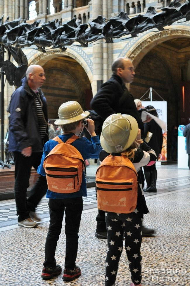 5 Things to Do in London with Kids, including the free Explorers Backpack program at the Museum of Natural History