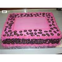 Cheetah Print Sheet Cakes