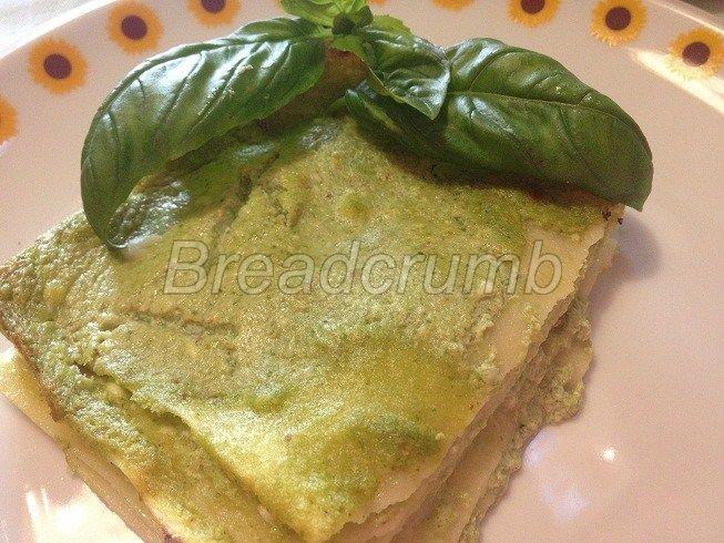 Lasagne con Ricotta e Pesto Light