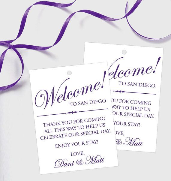 ... wedding guest bags on Pinterest Hotel welcome bags, Set of and Note