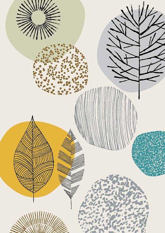 Natur No4 limitierte Auflage Giclee print von EloiseRenouf auf Etsy