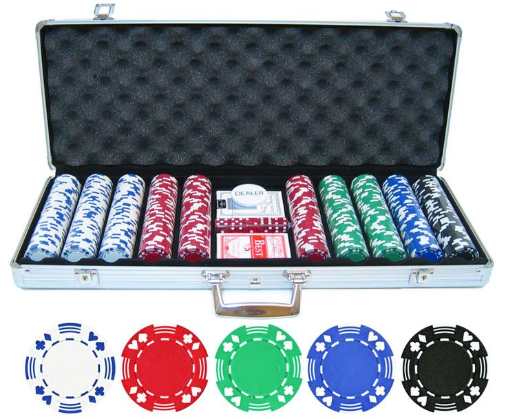 500pc Double Suited 11.5g Poker Chip Set - p-50