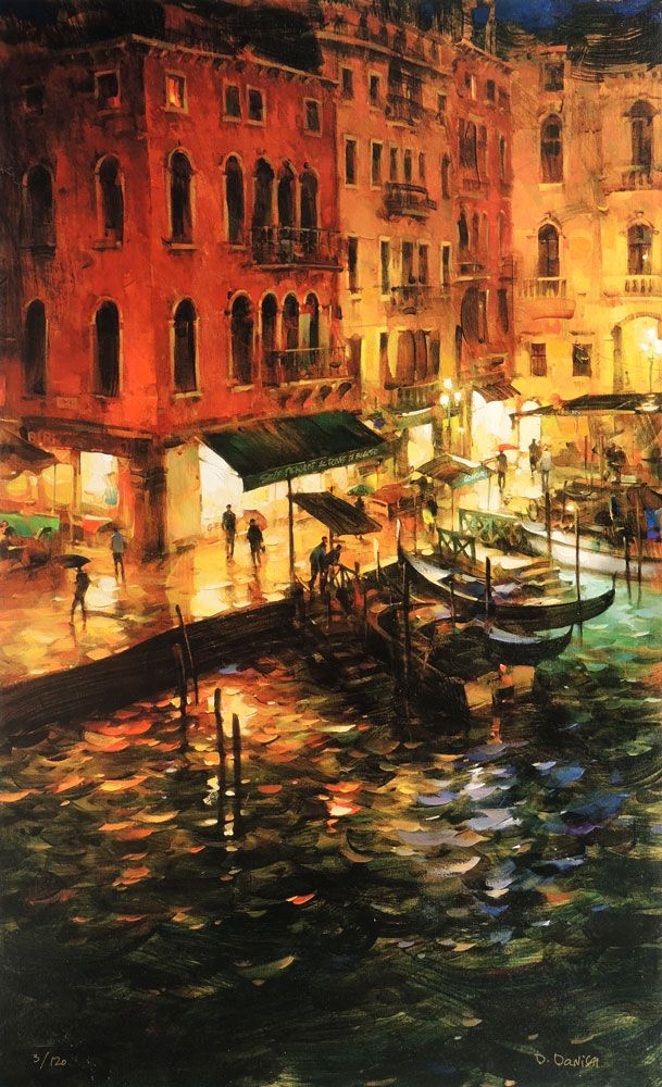 Dmitri Danish - Night Quay. For more information about the Danish collection, please visit our website siennafineart.com or call 305.600.4484