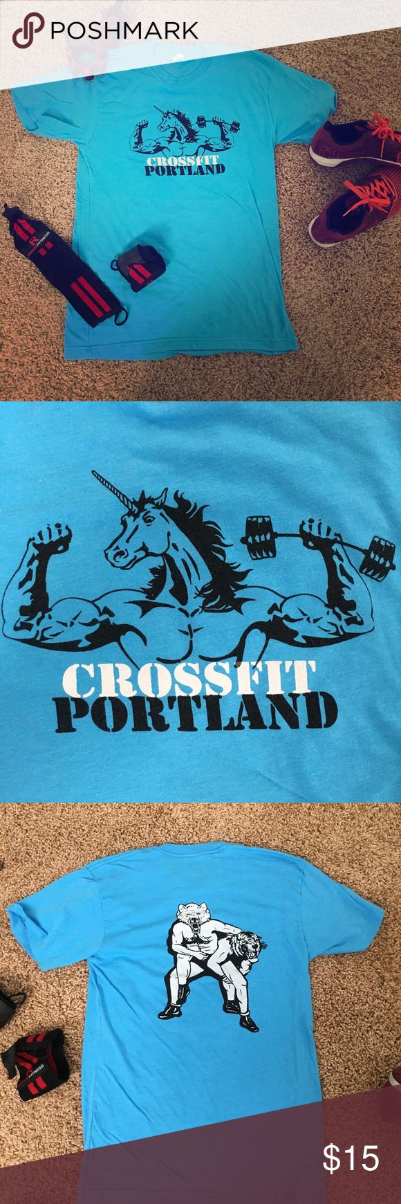 CrossFit Portland t-shirt. CrossFit Portland t-shirt. Men's size medium but fits smaller, great as a ladies medium! Smoke-free home. Super soft, great clean condition. *check out my other CF shirts! Bundle and save! American Apparel Tops Tees - Short Sleeve