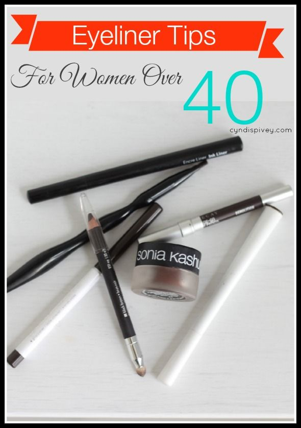 Eyeliner gets a little tricky as we age. Here are some eyeliner tips for women over 40.
