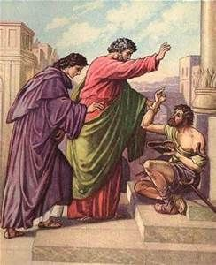Acts 3 and 5  -  So the man gave them his attention, expecting to get something from them.