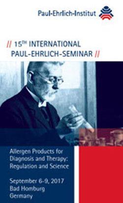 Hochinteressant für Mediziner, die sich mit #Allergien beschäftigen: Das internationale Paul-Ehrlich-Seminar