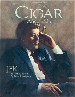 Classic shot of JFK, imparted the embargo, but loves cuban petite coronas...