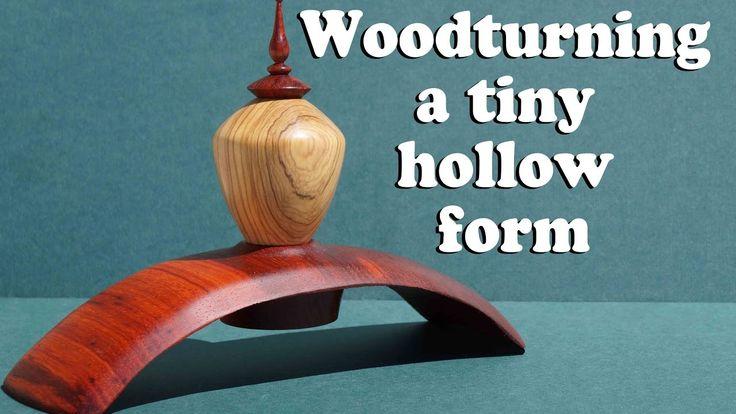 Ξυλοτορνος - κατασκευη κουφιας μορφης / Woodturning - a tiny hollow form !