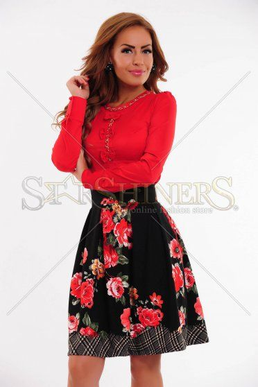 Camasa LaDonna Necklace Bows Red