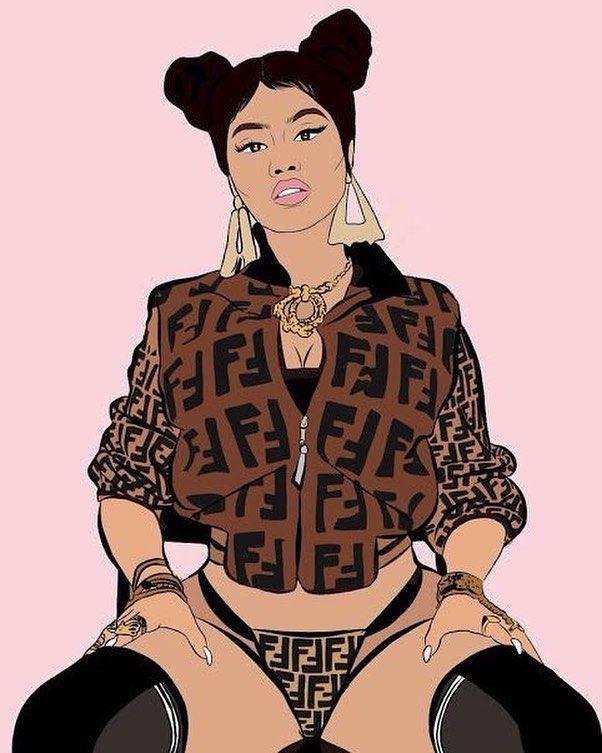 Barbie On Instagram This Is So Freaking Amazing Love It Nickiminaj Nicki Minaj Drawing Celebrity Artwork Black Girl Art