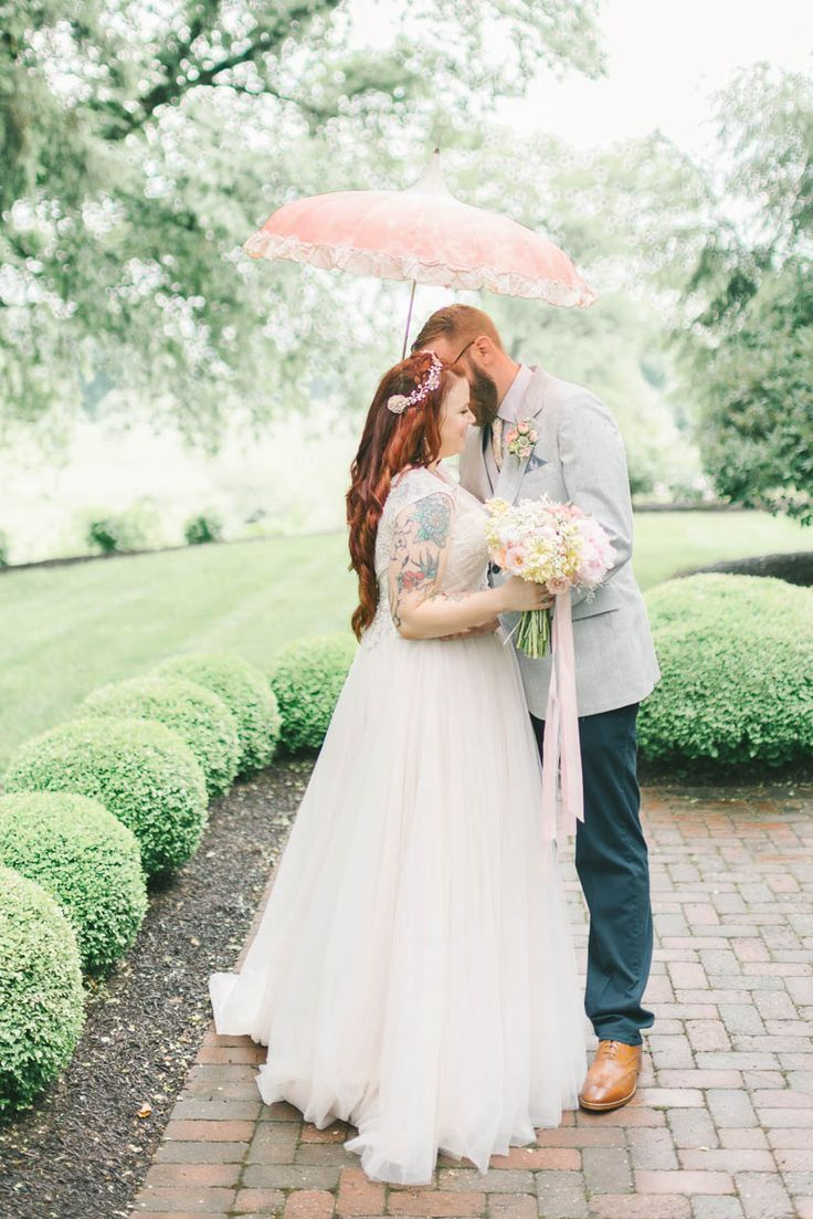 A Romantic Vintage Spring Wedding with a Marquee Reception