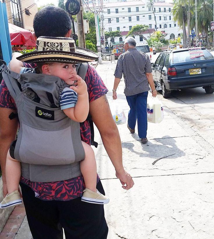 "Lucas Antonio  @the_lucas_antonio - follow him on instagram  ""#babywearing in #cartagena rocking un sombrero #vueltiao  #colombiankid #colombia #boba #travelkids #fashionkids #babyfashion #kidfashion #cutest_kiddies…"""