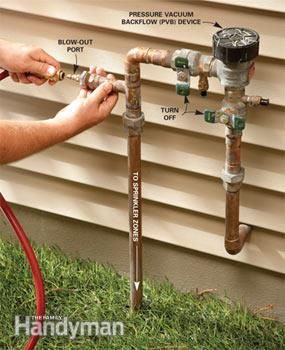 Save big bucks by blowing out the sprinkler system yourself