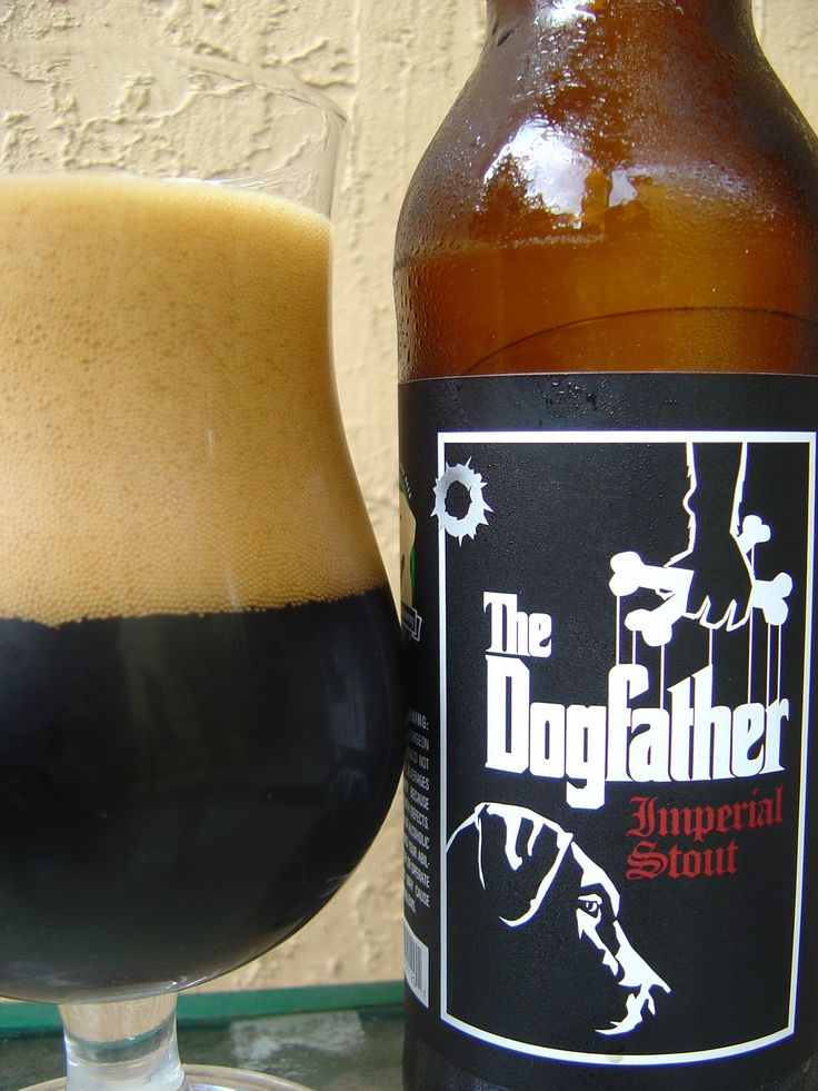 """Laughing Dog The Dogfather Imperial Stout.....This Idaho brewery has a """"Brew that you can't refuse!"""" (In my best Don Corleone voice) #Beer"""