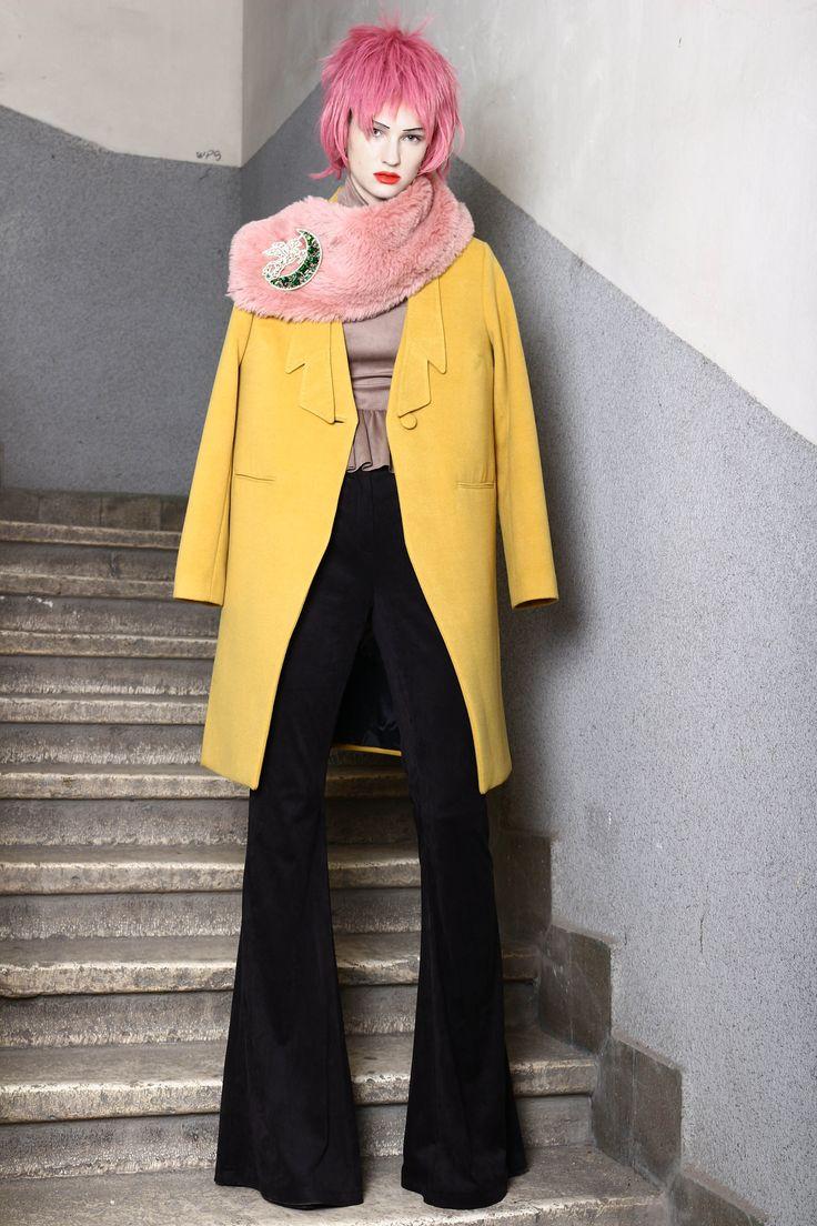 Abodi yellow wool coat