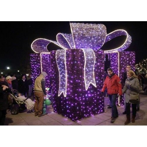 27 best Outdoor Christmas Decorations Lighted Gift Boxes images on - lighted christmas yard decorations