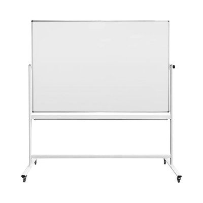 """Thornton's Office Supplies Magnetic Mobile Whiteboard Size: 48"""" H x 70"""" W"""
