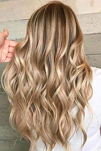Amazing offer on RUNATURE 22 Inch Hair V Clip Extensions Double Weft Clip In Human Hair Extensions One Piece 140g Color #10 Highlighted Color #16 Remy Human Hair Extensions Clip In 3/4 Head online