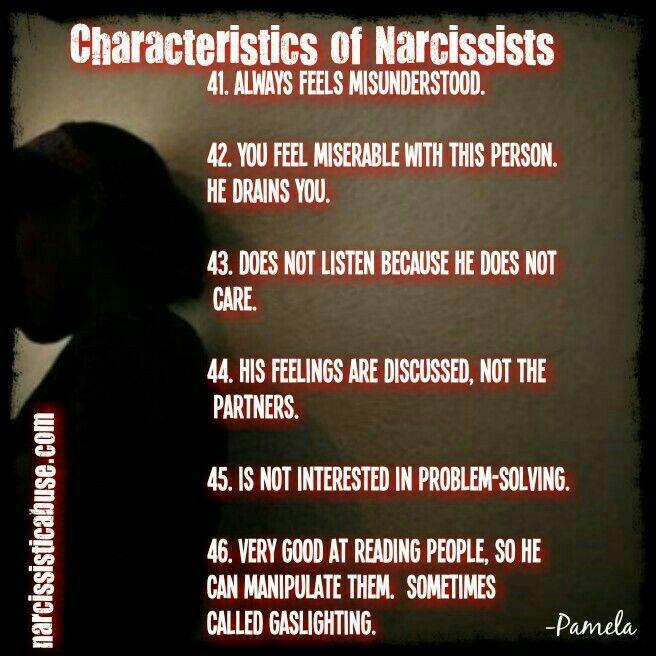 Characteristics of Narcissists ( 41 - 46 )
