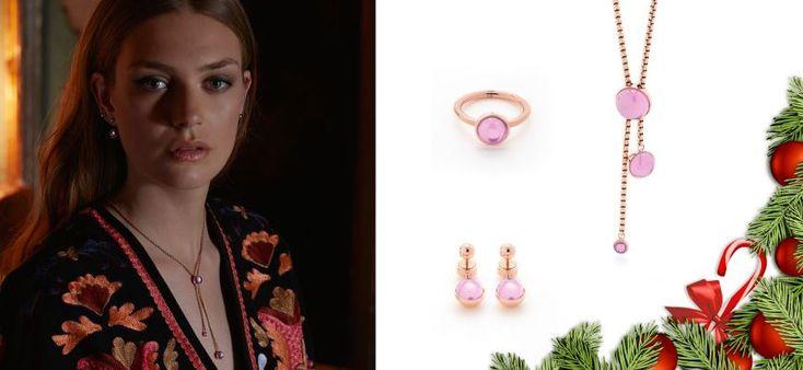 Julegave til hende fra Magnethjerte i rosaguld og med pink zirkonia sten