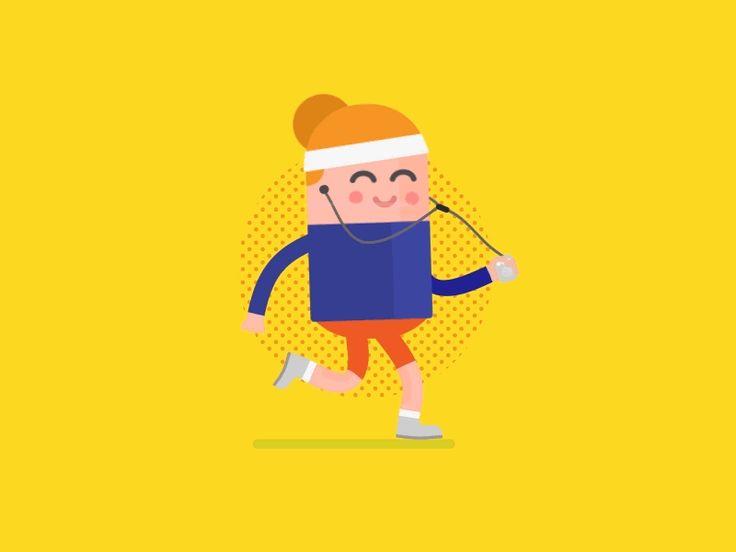 Running girl by Nikita Melnikov