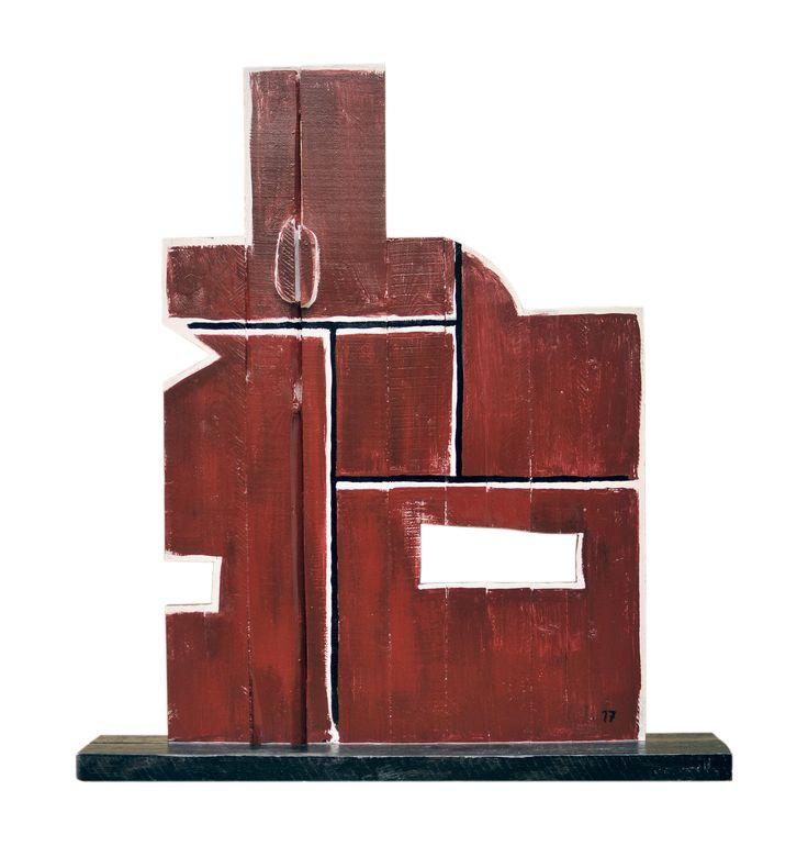 Oscar Ribeiro, Escultura en madera. 121 x 108 cm Año 2017
