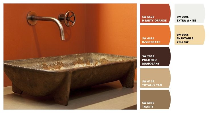 rust colored wall paint possibly for the bathroom the on interior paint color schemes id=88403