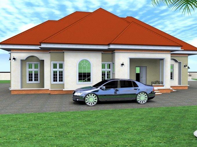 Bungalow Designs In Nigeria Three Bedroom Bungalow House Plans In Nigeria Luxury House Plans Bungalow House Plans House With Balcony