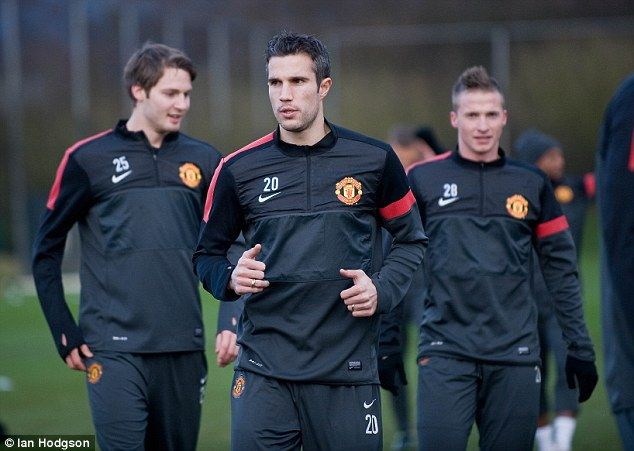 Nick Powell, Robin van Persie & Alex Buttner