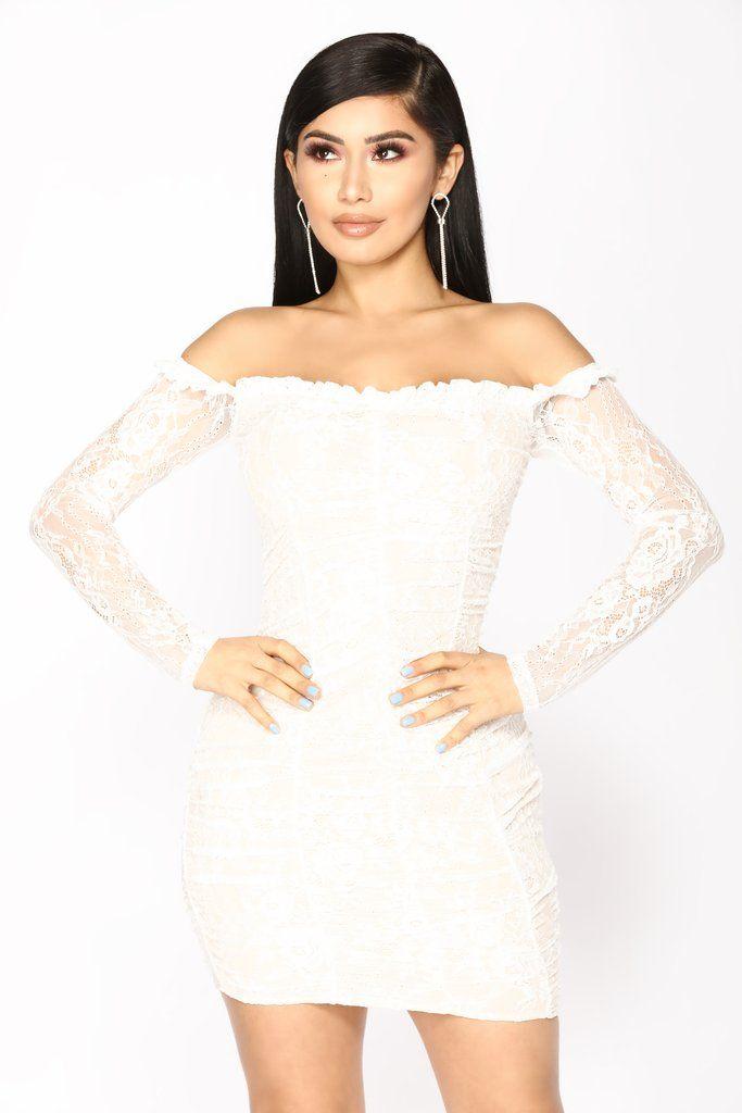 Kiss It Out Lace Dress , White