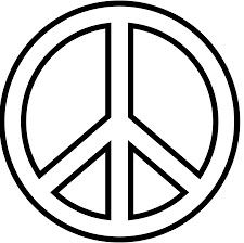 Het peace teken staat voor: vrede.