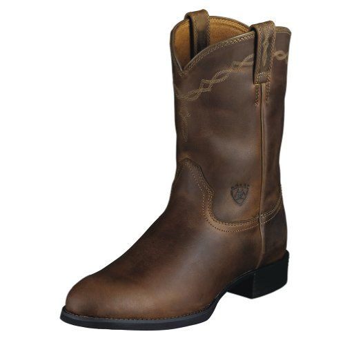 Ariat Mens Heritage Roper Boot Distressed Brown Size 10 - http://authenticboots.com/ariat-mens-heritage-roper-boot-distressed-brown-size-10/
