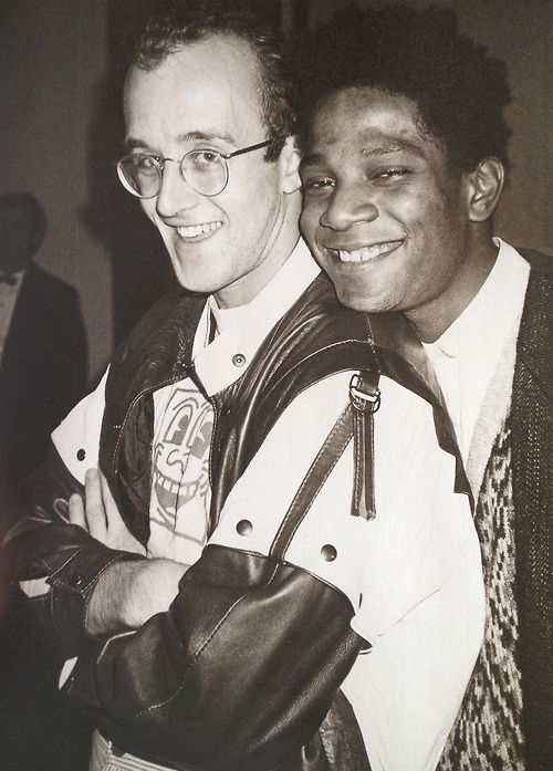 Street artists Keith Haring & Jean-Michel Basquiat by Andy Warhol