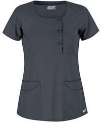 UA Butter-Soft Twill STRETCH Scrubs Rounded Square Neck Top