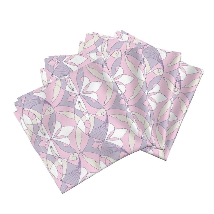 Interwoven XX_Orchid on Amarela by mia_valdez | Roostery Home Decor  #InterwovenXX #Woman #Girls #Cubism #summertime #Ladies #girly #Sisterhood #Lis #Flower #orchid #lilac #pink #Mia #Amarela #Cloth #Dinner #Napkins #roosteryhome   @Roosteryhome