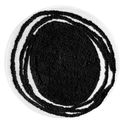 Interdesign Doodle Rug Black 24 Round