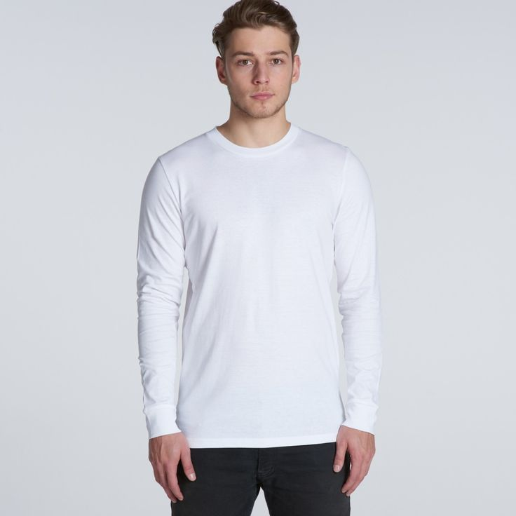5029 Base Longsleeve Tee -- white (medium)