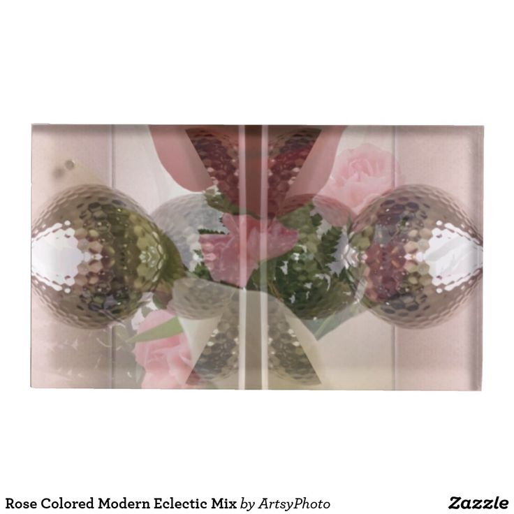 Rose Colored Modern Eclectic Mix Place Card Holder