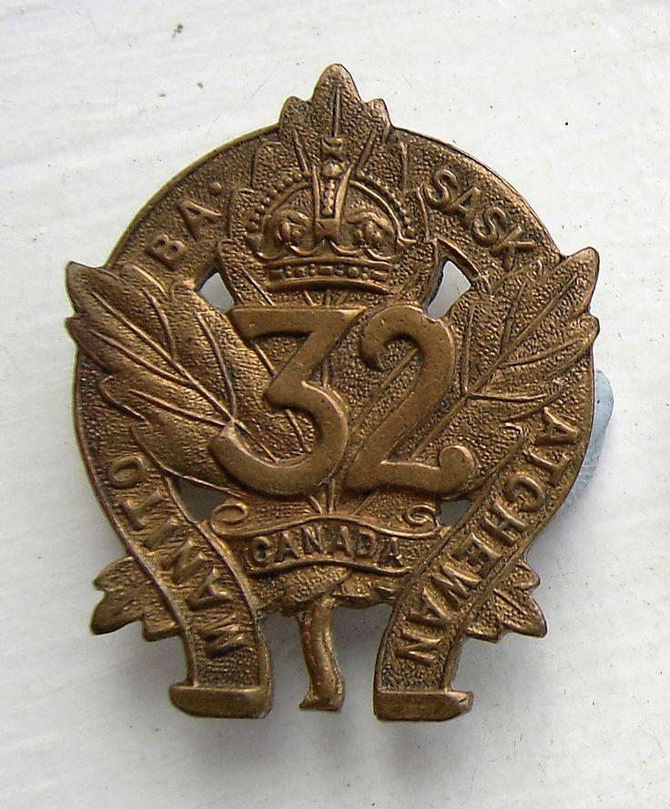 CANADIAN CEF 32ND BATTALION CAP BADGE | eBay