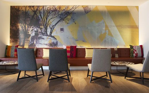 Nic Graham Hotel & Spacecraft Design. cushions, pillows, artworks, screen printing